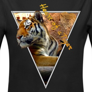 Heart of a Tiger Baby Bodys - Baby Bio-Langarm-Body