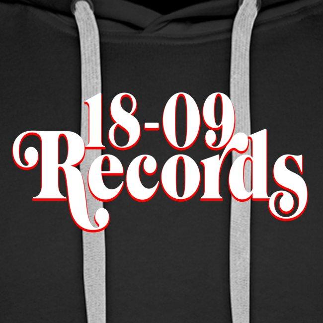 18-09 Records Men's White Hoody