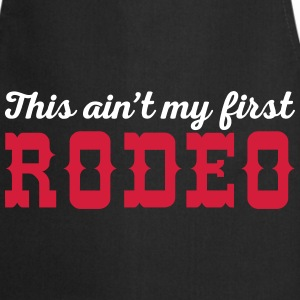 My First Rodeo Funny Quote  Aprons - Cooking Apron