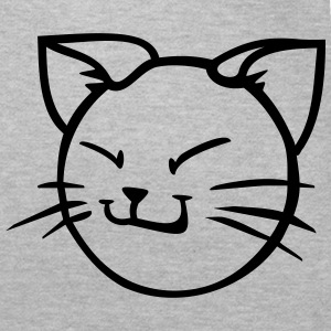grinse cat 1 farb Vektor T-Shirts - Frauen T-Shirt