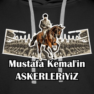 Mustafa Kemal´in Askerleriyiz Sweat-shirts - Sweat-shirt à capuche Premium pour hommes