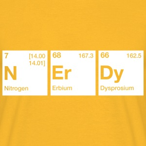 Nerdy Periodic Table Word T-Shirts - Men's T-Shirt