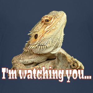 "Shirts mit Tier-Motiv ""Bearded Dragon Watching"""