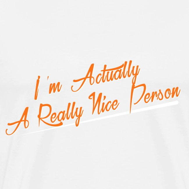 Male Nice Person Tee