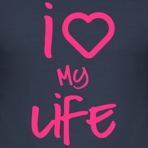i love my life 2 T-Shirts - Men's Slim Fit T-Shirt