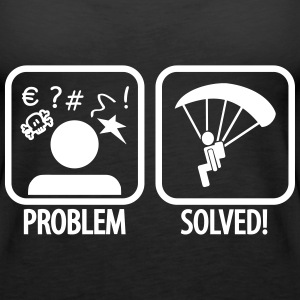 problem solved skydiving Topy - Tank top damski Premium