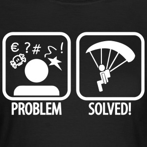 problem solved skydiving Camisetas - Camiseta mujer
