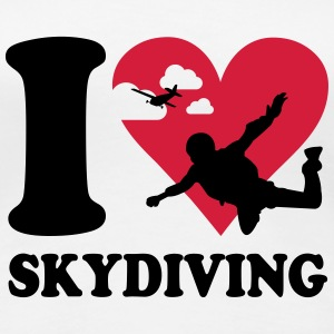 I love skydiving T-shirts - Vrouwen Premium T-shirt