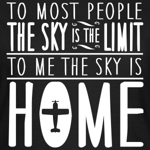skydiving: sky is home, not the limit T-shirts - Dame-T-shirt