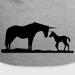 Unicorns - Unicorn mother and baby Cappelli & Berretti - Beanie in jersey