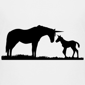 Unicorns - Unicorn mother and baby Camisetas - Camiseta premium adolescente