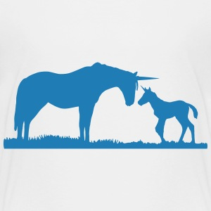 Unicorns - Unicorn mother and baby Tee shirts - T-shirt Premium Enfant
