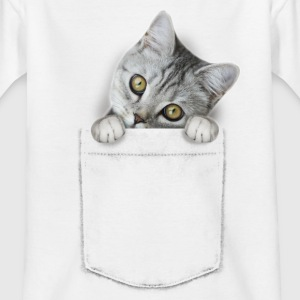 cat pocket Shirts - Kinderen T-shirt