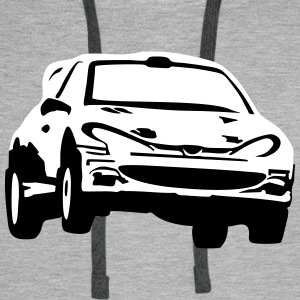Rally car, race car Sweat-shirts - Sweat-shirt à capuche Premium pour hommes