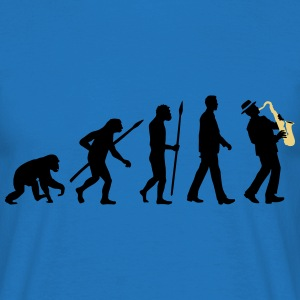 evolution_of_man_saxophone_player_092016 T-Shirts - Männer T-Shirt