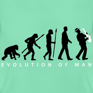 evolution_of_man_saxophone_player_092016 T-Shirts - Frauen T-Shirt