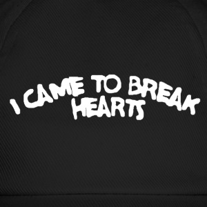 Black Cap with '' i came to break hearts'' print - Baseballkappe