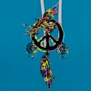 Peace dream cather bird Contrast Colour Hoodie - Contrast Colour Hoodie