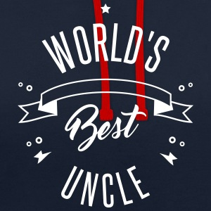 WORLD'S BEST UNCLE Sweat-shirts - Sweat-shirt contraste