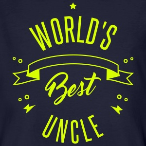 WORLD'S BEST UNCLE T-shirts - Mannen Bio-T-shirt