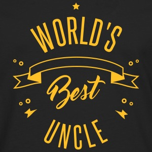 WORLD'S BEST UNCLE Langærmede t-shirts - Herre premium T-shirt med lange ærmer
