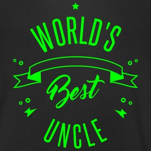 WORLD'S BEST UNCLE T-shirts - Mannen T-shirt met V-hals