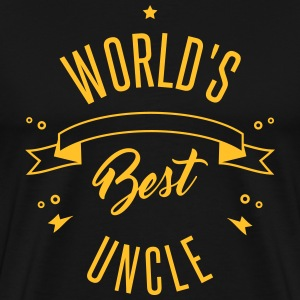 WORLD'S BEST UNCLE T-shirts - Herre premium T-shirt