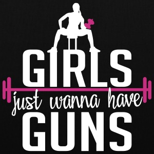 girls just wanna have guns Tassen & rugzakken - Tas van stof