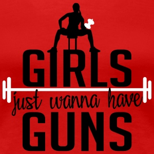 girls just wanna have guns Koszulki - Koszulka damska Premium