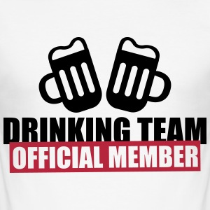 Drinking team crew official member - Camiseta ajustada hombre