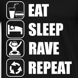Eat,sleep,rave,repeat,music - Camiseta premium hombre