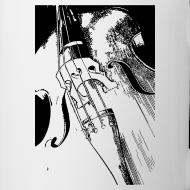 Motif ~ Mug contrebasse 2