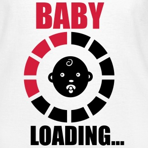 T-shirt funny pregnancy baby loading - Dame-T-shirt