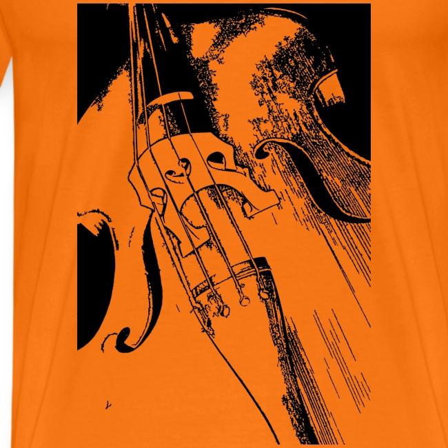 T-shirt homme contrebasse