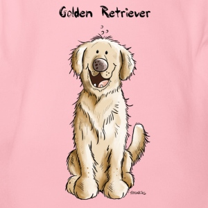 Søt Golden Retriever Babybody - Økologisk kortermet baby-body