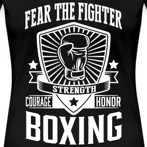 boxing - fear the fighter Camisetas - Camiseta premium mujer