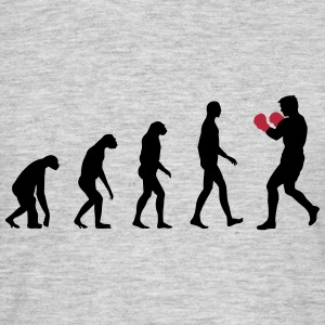 evolution boxing T-shirts - Mannen T-shirt