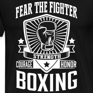 boxing - fear the fighter Koszulki - Koszulka męska Premium
