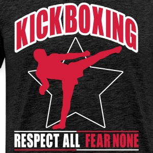 kickboxing - fear none T-shirts - Mannen Premium T-shirt