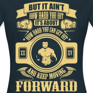 boxing keep movin forward Camisetas - Camiseta mujer