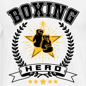 Boxing hero T-shirts - Mannen Premium T-shirt