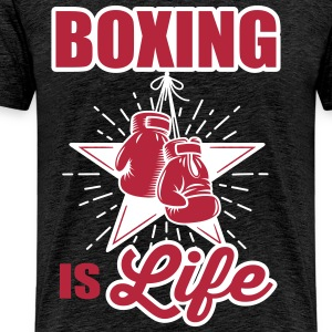 boxing is life T-shirts - Mannen Premium T-shirt