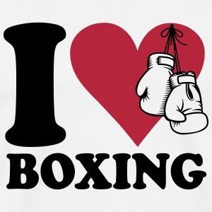 I love boxing T-shirts - Mannen Premium T-shirt