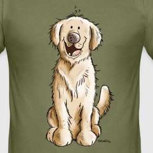 Golden Golden Retriever T-Shirts - Men's Slim Fit T-Shirt