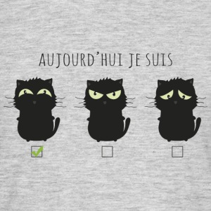 Aujourd'hui chat heureux Tee shirts - T-shirt Homme