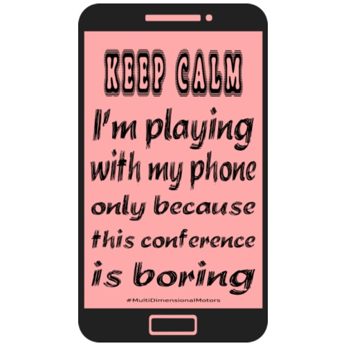 pink phone keep calm