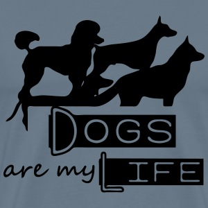 Dogs are my Life T-Shirts - Men's Premium T-Shirt