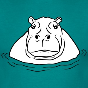 hippopotamus thick water swim thick large lake tüm T-Shirts - Men's T-Shirt