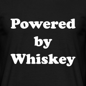 Powered by Whiskey - Men's T-Shirt
