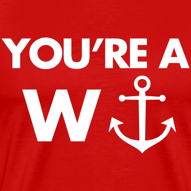 Funny heren shirt: You're a wanker!